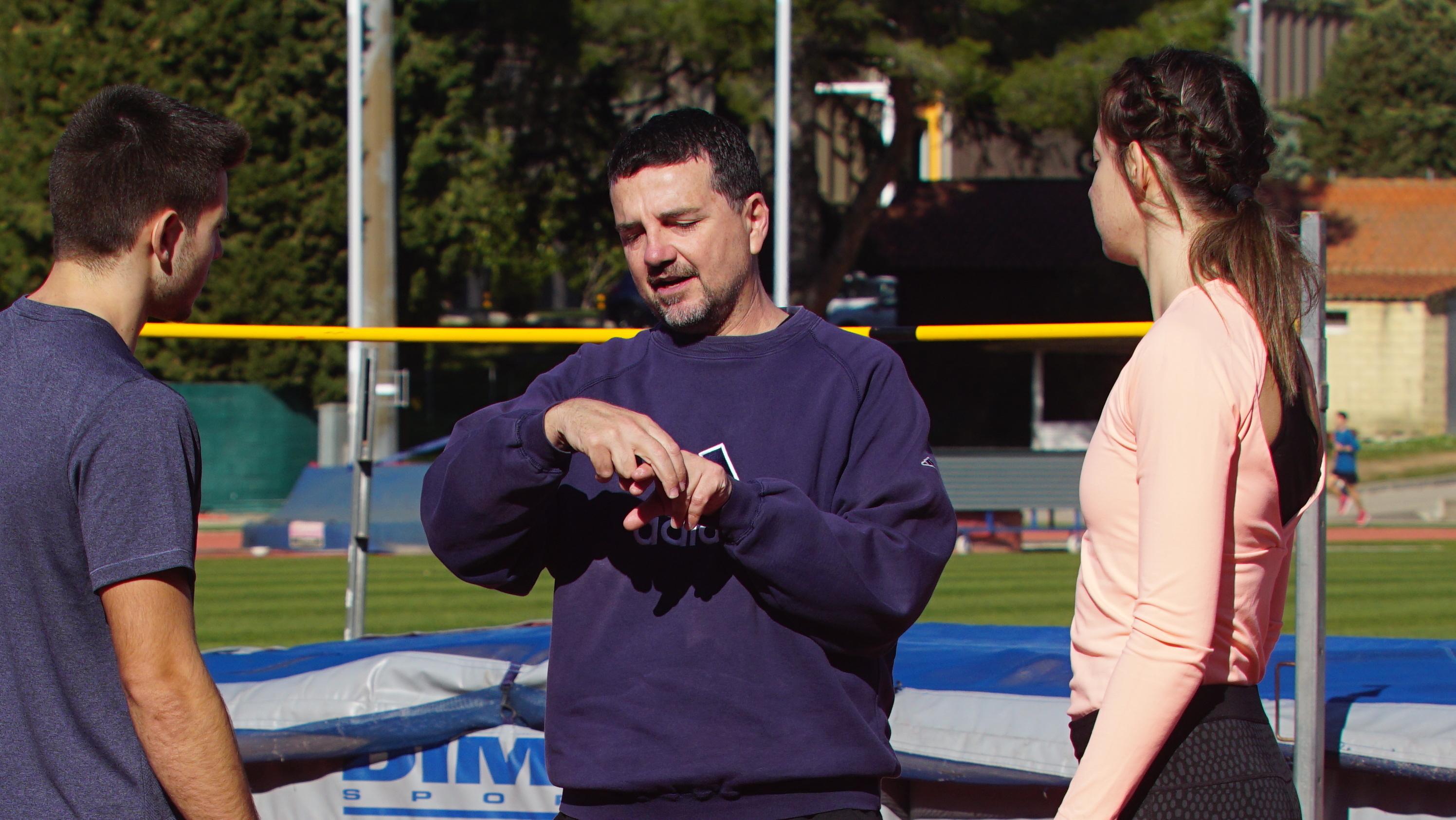 Fernando Martínez, en un entrenamiento