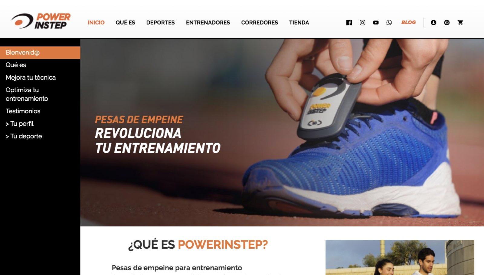 La nueva página web de Powerinstep