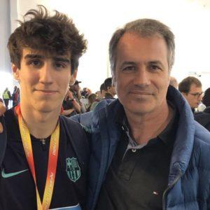 Quim Erta, derecha, con su hijo Bernat Erta