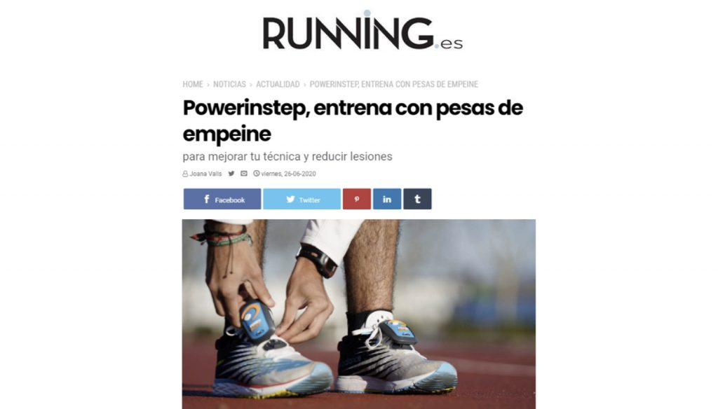 RUNNING.ES publicó un reportaje sobre Powerinstep