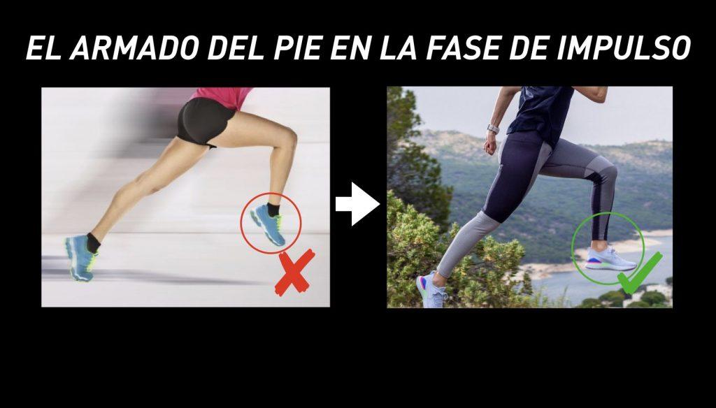 La flexión dorsal en la fase de impulso