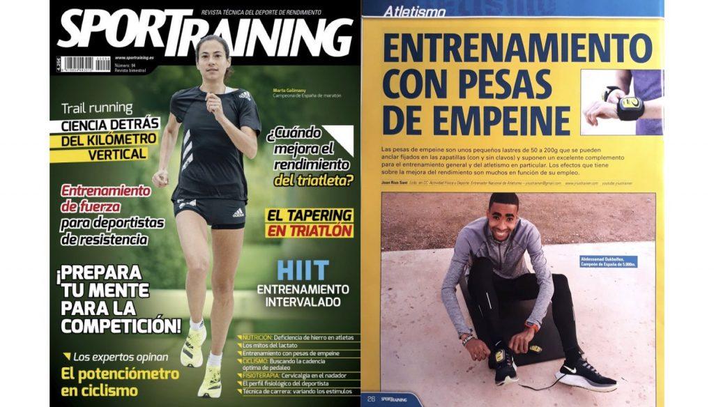 Artículo publicado en SporTraining sobre el entrenamiento con pesas de empeine