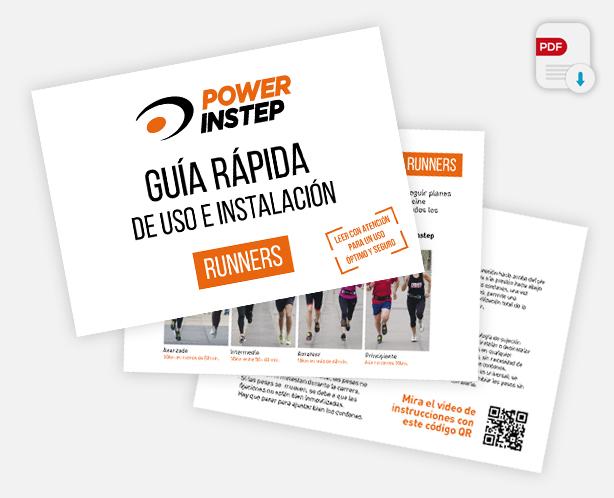 La Guía rápida del usuario para corredores va incluida en el PACK  RUNNER TODO TERRENO