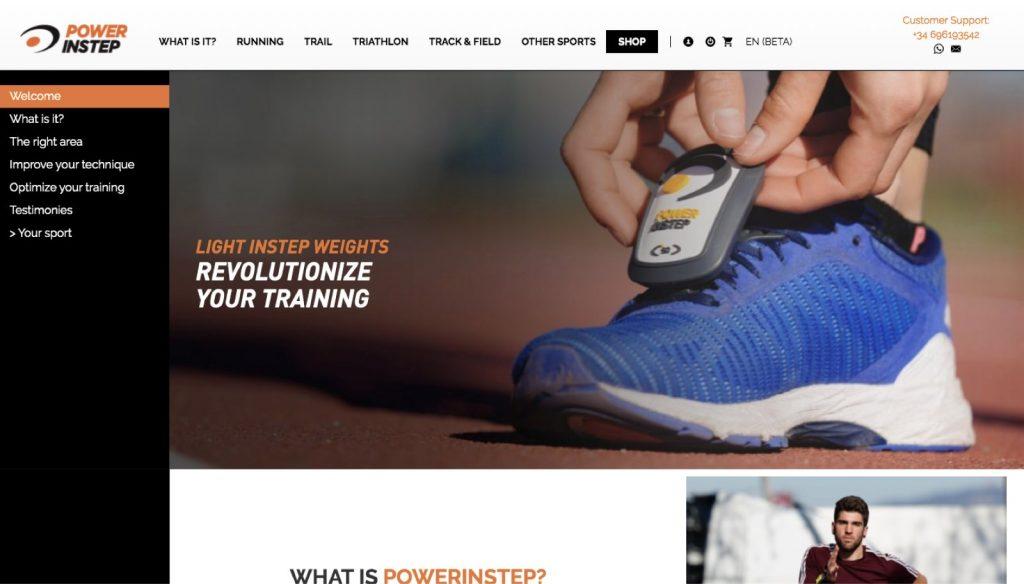 Powerinstep lanza su página web en inglés
